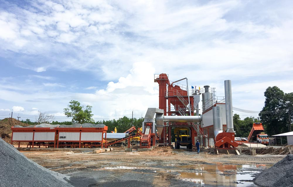 ZAP-S120 Asphalt Mixing Plant In Thailand