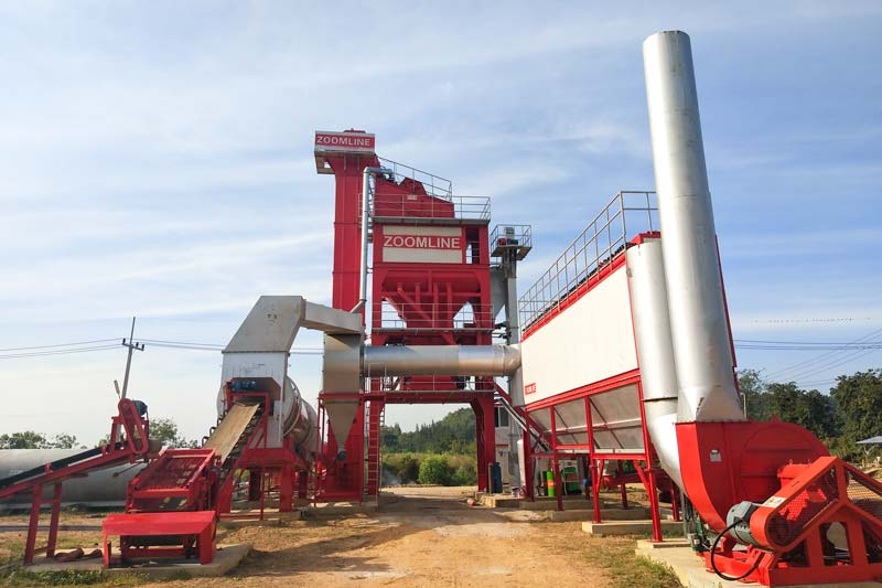 ZAP-S160 Batch Asphalt Mixing Plant In Thailand