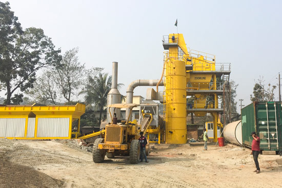 ZAP-S80 Asphalt Mixing Plant In Bangladesh