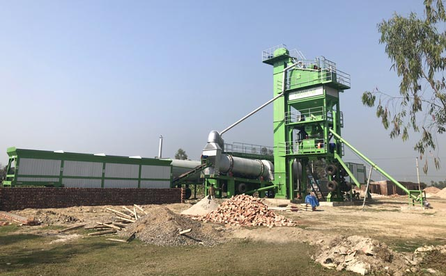 80TPH Mobile Asphalt Mixing Plant In Bangladesh