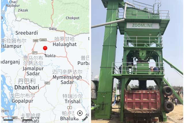 80TPH Mobile Asphalt Mixing Plant In Bangladesh 4