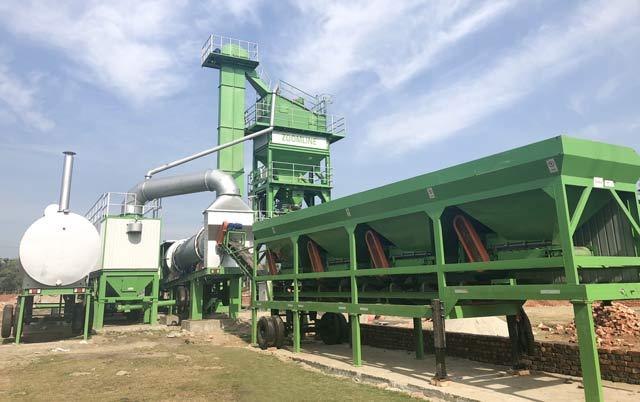 80TPH Mobile Asphalt Mixing Plant In Bangladesh 1
