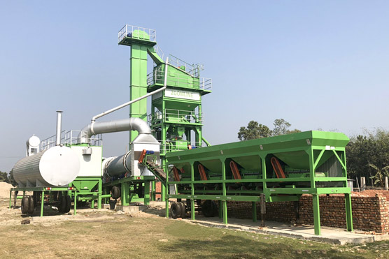 80TPH Mobile Asphalt Mixing Plant In Bangladesh
