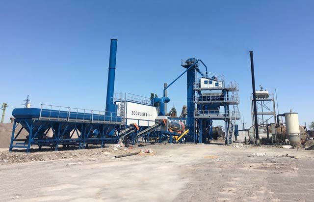 ZAP-S100 Asphalt Batching plant in Kyrgyzstan
