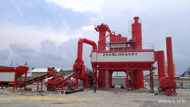 120TPH asphalt mixing plant in Uzbekistan