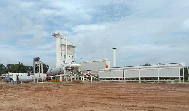ZAP-S160 Asphalt Mixing Plant In Thailand