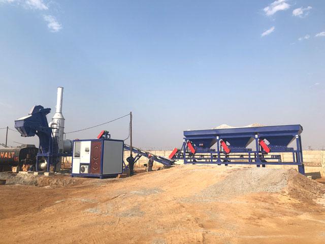 20TPH Stationary drum mix asphalt plant in Zimbabwe