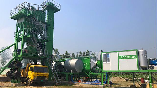 80TPH Mobile Asphalt Mixing Plant In Bangladesh 3