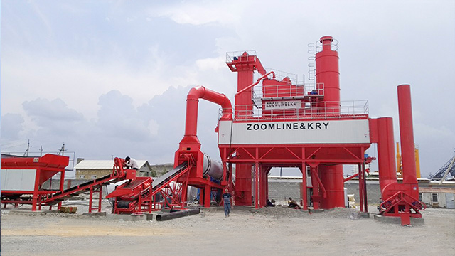 120TPH asphalt mixing plant in Uzbekistan 1