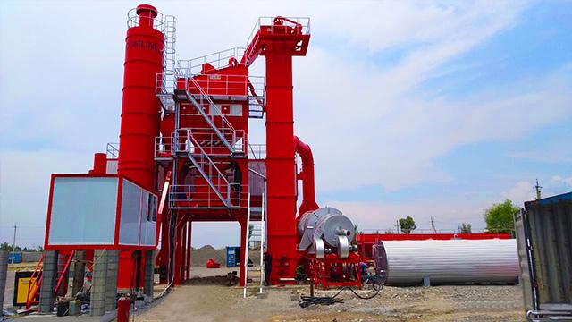 120TPH asphalt mixing plant in Uzbekistan 2