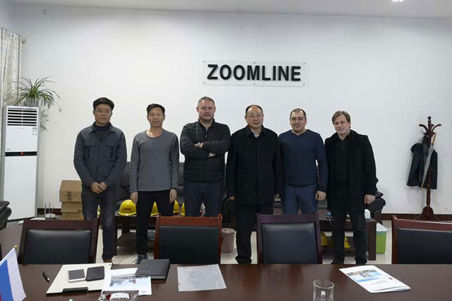 Russia clients visited our factory for 80TPH asphalt plant