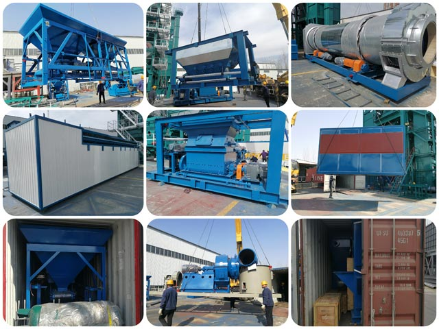 ZAP-S100 100t/h asphalt plant delivery to Kyrgyzstan