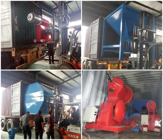 New pulverized coal burner for boiler delivery to India