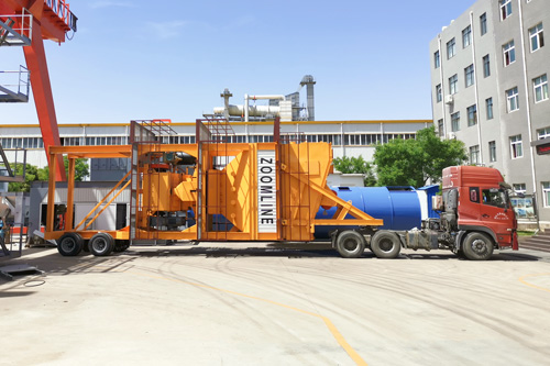 ZAP-M120 Mobile batch type asphalt plant delivery to Uzbekistan