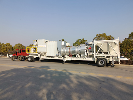 """one-mounted "" continuous asphalt mixing plant"
