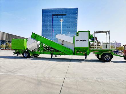 super mobile drum mix asphalt plant